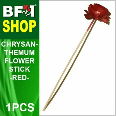 BAP- Reed Diffuser Flower Stick - Chrysanthemum - Red x 1pc