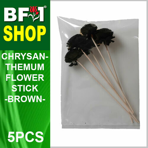 BAP- Reed Diffuser Flower Stick - Chrysanthemum - Brown x 5pc