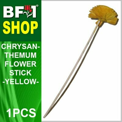 BAP- Reed Diffuser Flower Stick - Chrysanthemum - Yellow x 1pc