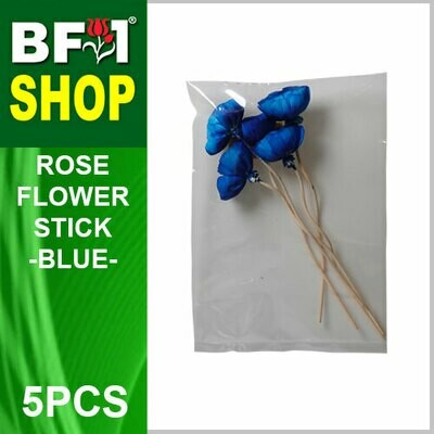 BAP- Reed Diffuser Flower Stick - Rose - Blue x 5pc