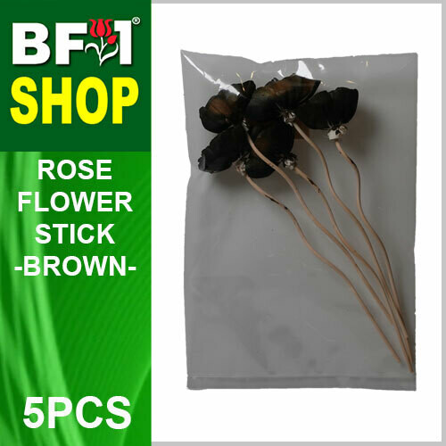 BAP- Reed Diffuser Flower Stick - Rose - Brown x 5pc