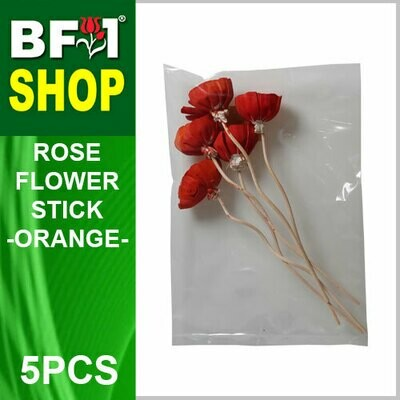 BAP- Reed Diffuser Flower Stick - Rose - Orange x 5pc