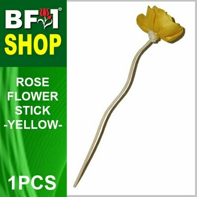 BAP- Reed Diffuser Flower Stick - Rose - Yellow x 1pc