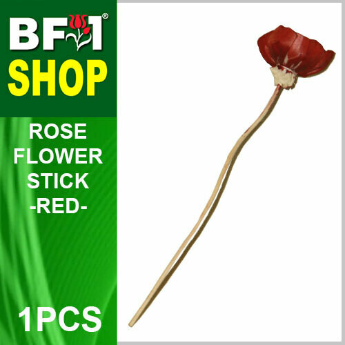 BAP- Reed Diffuser Flower Stick - Rose - Red x 1pc