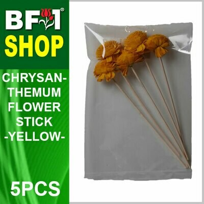 BAP- Reed Diffuser Flower Stick - Chrysanthemum - Yellow x 5pc