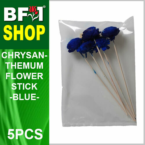BAP- Reed Diffuser Flower Stick - Chrysanthemum - Blue x 5pc