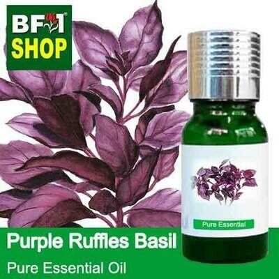Pure Essential Oil (EO) - Basil - Purple Ruffles Basil Essential Oil - 10ml