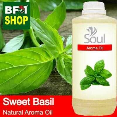 Natural Aroma Oil (AO) - Basil - Sweet Basil ( Giant Basil ) Aroma Oil  - 1L