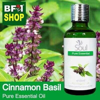 Pure Essential Oil (EO) - Basil - Cinnamon Basil ( Thai Basil ) Essential Oil - 50ml