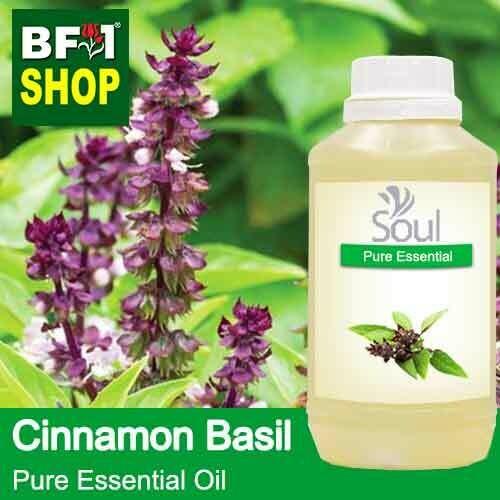 Pure Essential Oil (EO) - Basil - Cinnamon Basil ( Thai Basil ) Essential Oil - 500ml