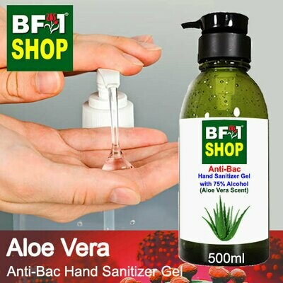 Anti-Bac Hand Sanitizer Gel with 75% Alcohol (ABHSG) - Aloe Vera - 500ml