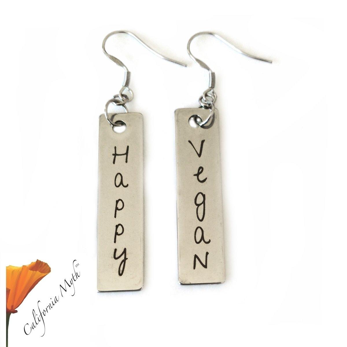 Happy Vegan Earrings