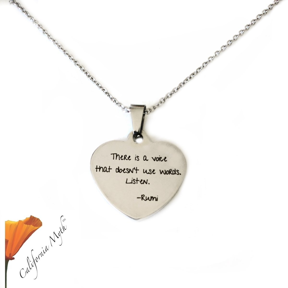 There Is A Voice Pendant Necklace