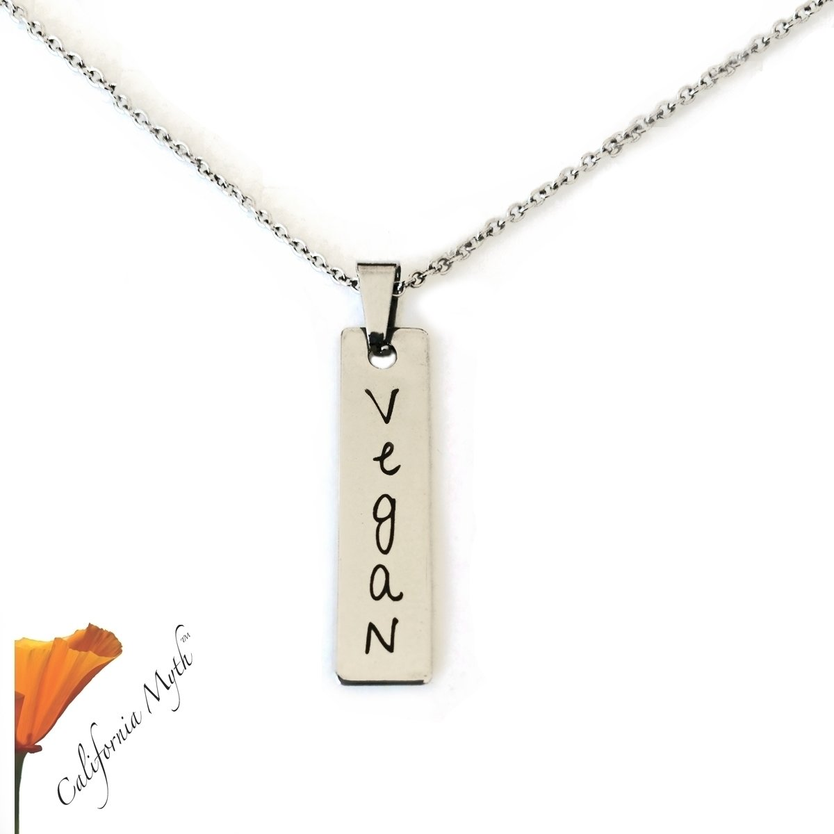 Vegan Pendant Necklace