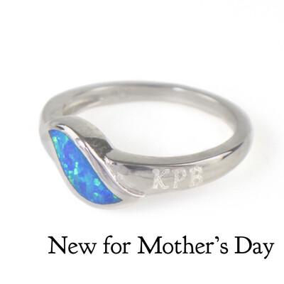 Heartbeat Blue Opal Ring