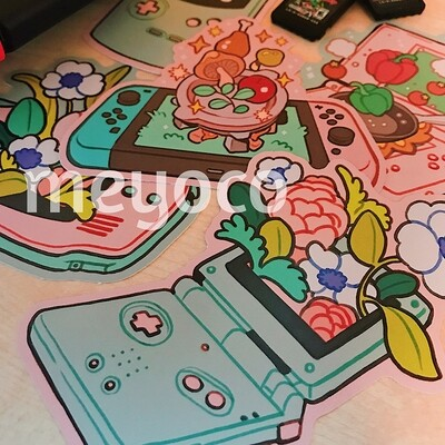 Consoles Eco Paper Sticker Pack