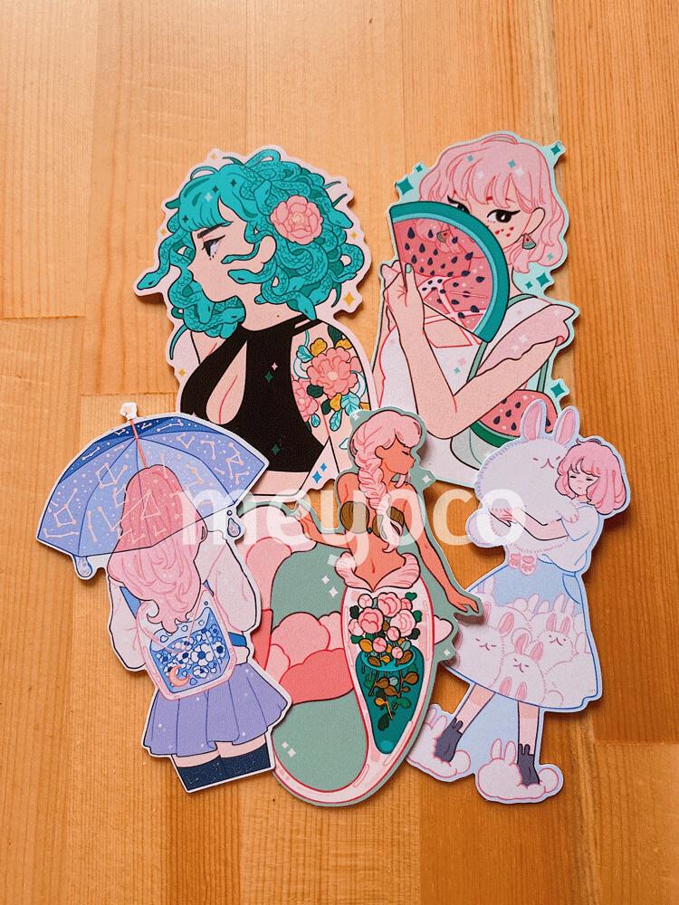 Girls I Eco Paper Sticker Pack