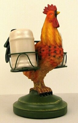 Rooster Holding Salt & Pepper