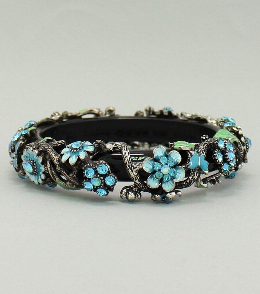 Floral Covered Bangle Bracelet