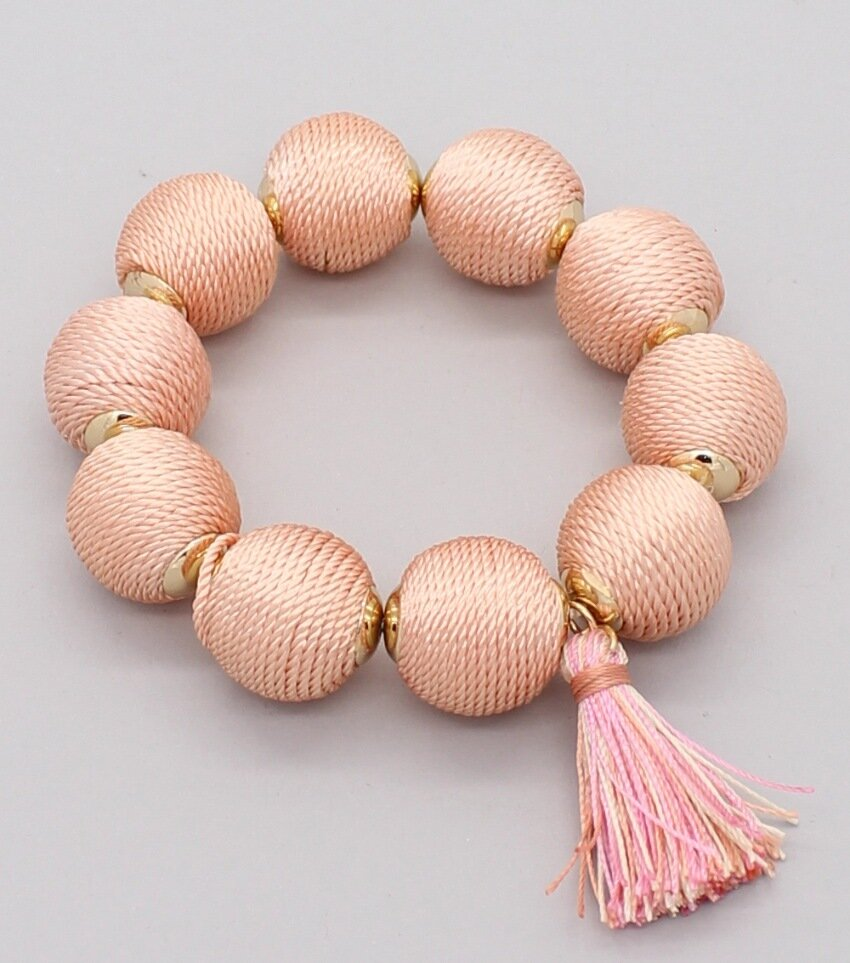Thread Ball Crispin Stretch Bracelets