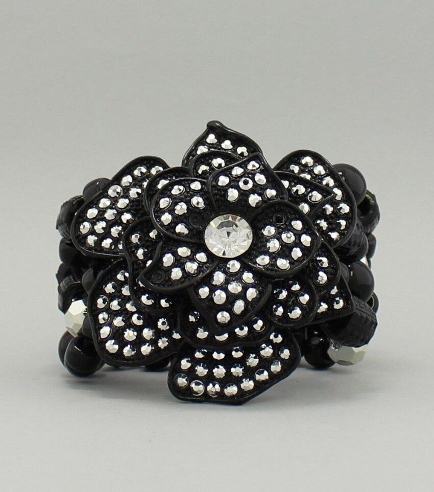 Crystal Flower Pendant Bracelet