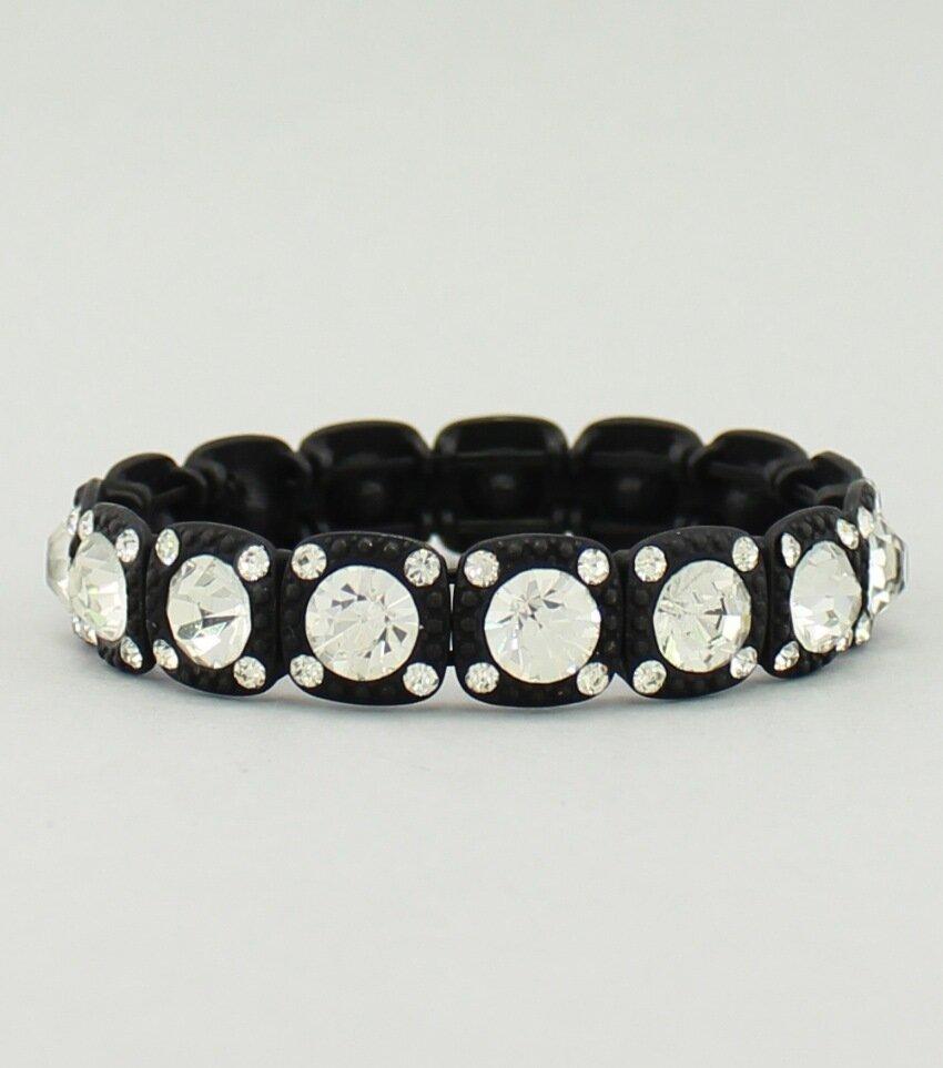 Crystal Blocks Stretch Bracelet