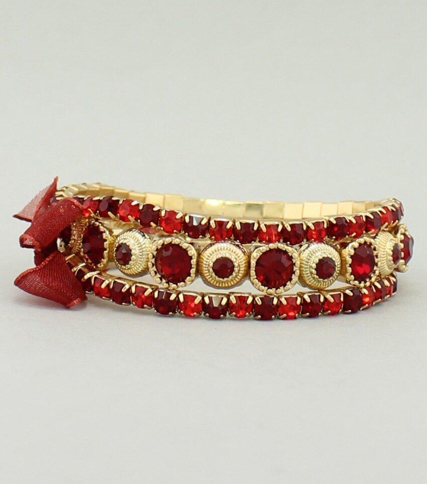 Crystal Rhinestone Set 3-Piece Stretch Bracelet