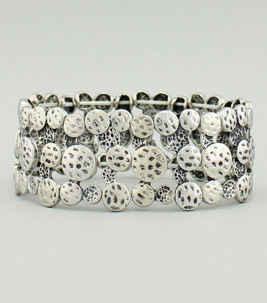 Textured Metal Stretch Bracelet