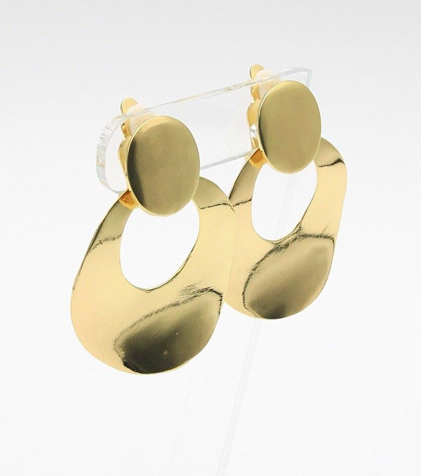 Paltrow Door Knocker Clip Earrings