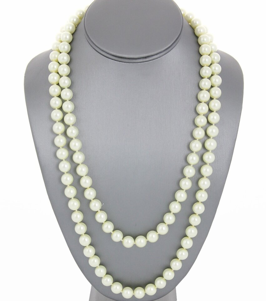 Long Handmade Pearl Necklace