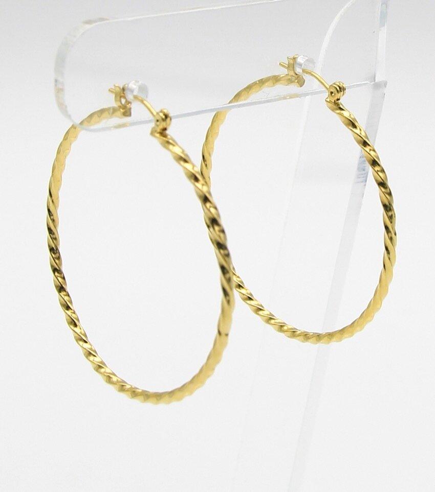 Texture Metal Hoop Earrings