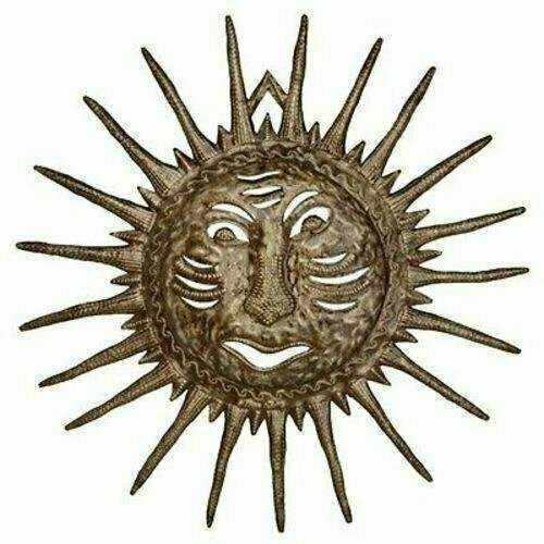 Sun Face - Drum Art - 24 inch - Haiti - Croix des Bouquets