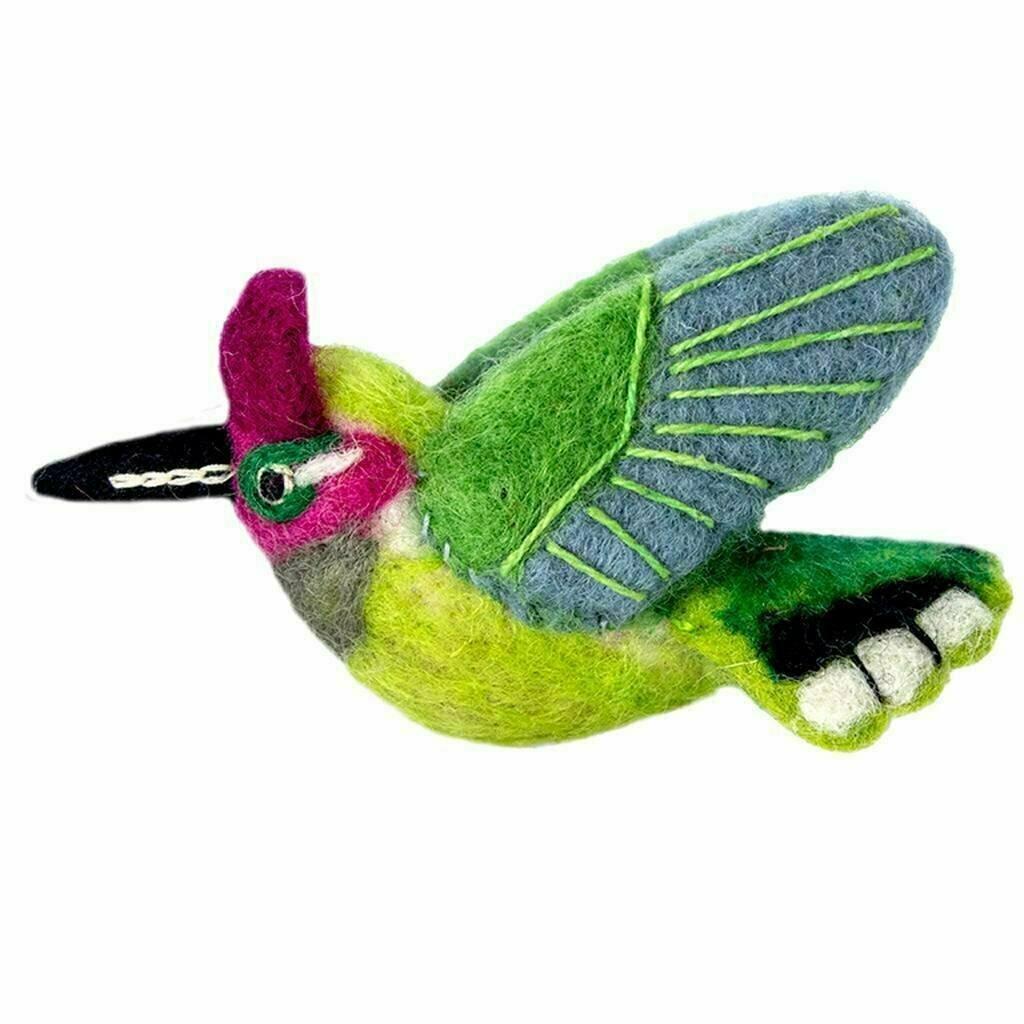 Wild Woolies Felt Bird Ornament - Anna's Hummingbird - Wild Woolies (H)