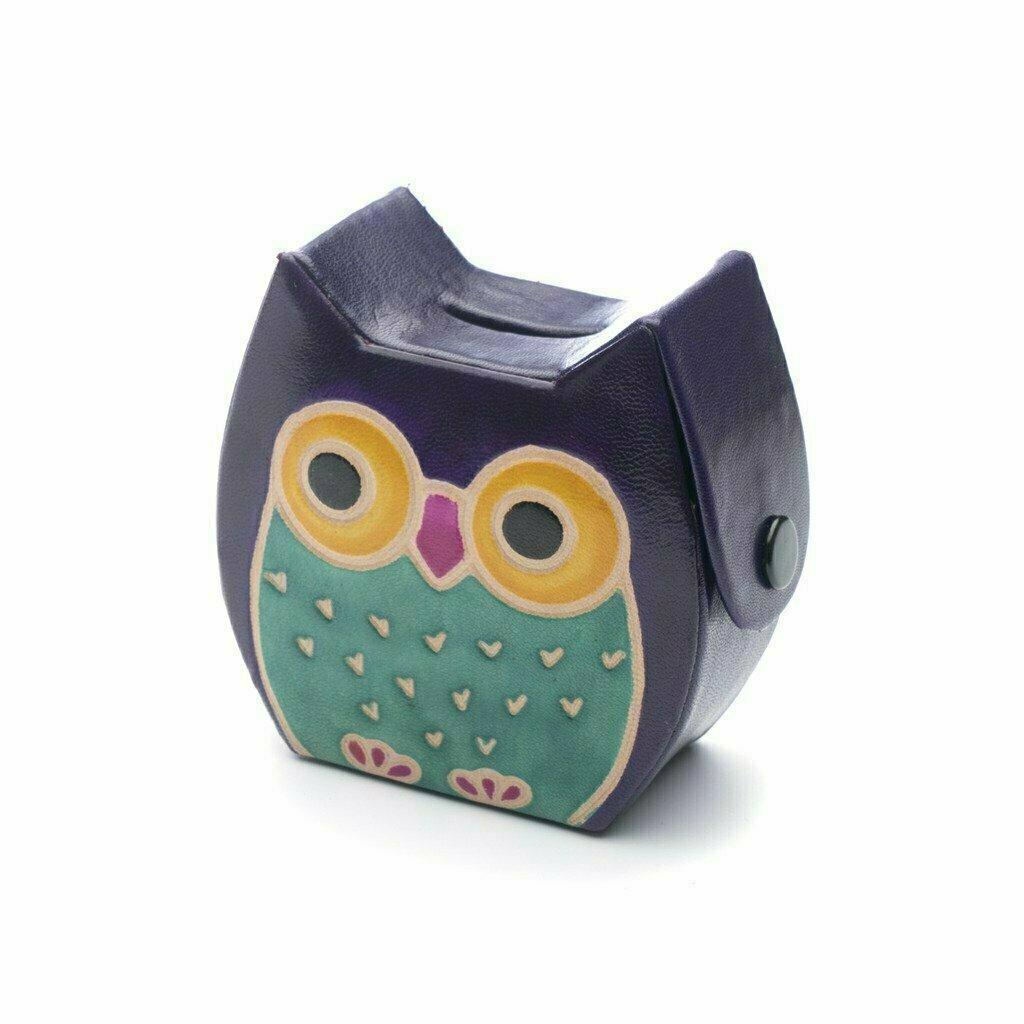 Leather Owl Coin Bank - Matr Boomie
