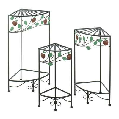 COUNTRY APPLE PLANT STAND SET
