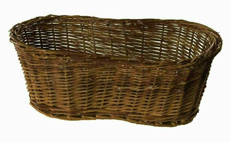 MS1555 - Rustic Peanut Shape Double Pot Holder With Hard Liner