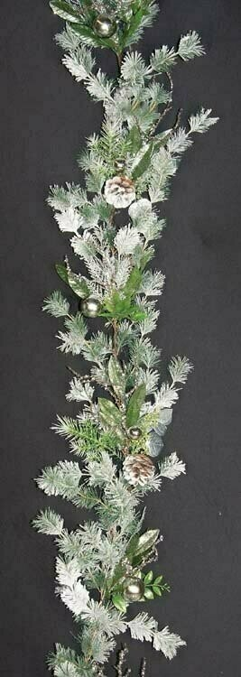 PMX7044SL - 6' Fancy Winter Fair Decor Garland