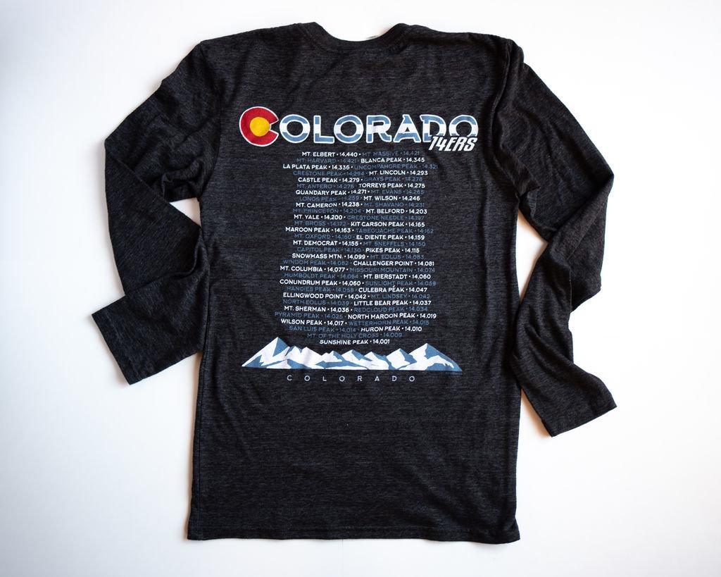 Colorado BACK - 14ers (Black)