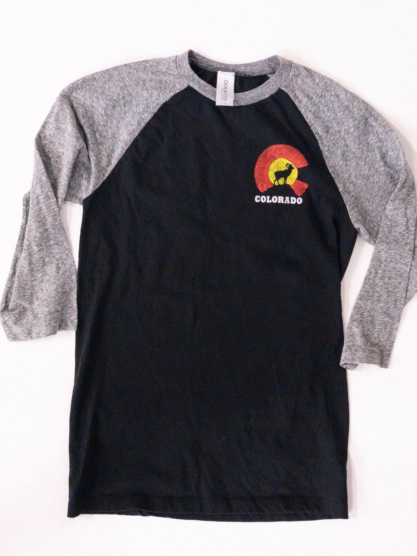 Colorado black and grey Raglan
