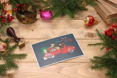 Новогодняя открытка happy HO-HO time