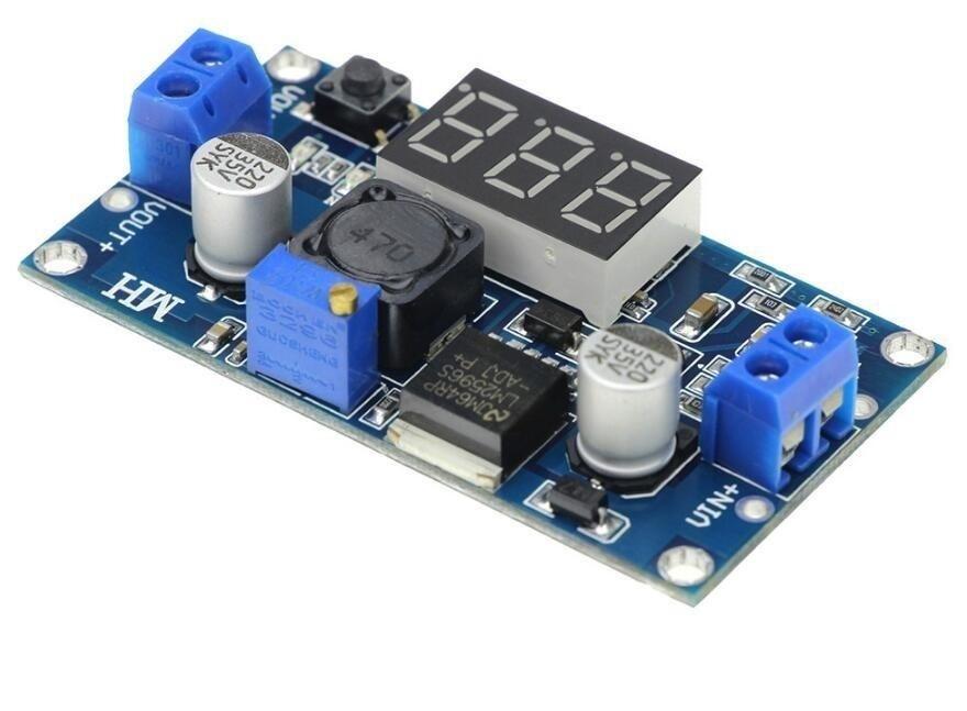 Modul coborator tensiune reglabil cu display LM2596