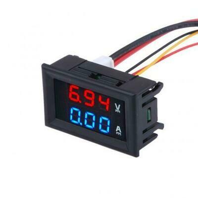 Voltmetru cu Ampermetru digital 0-100V, 10A
