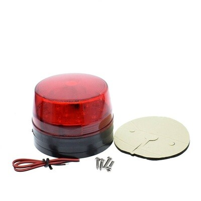 Lumina avertizare led, rosu, 12V