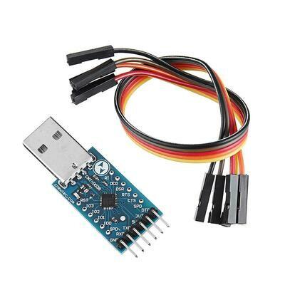Modul Convertor serial USB 2.0 la TTL UART CP2104 STC PRGMR