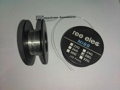 Fir incalzire Ni80, 28G, 0.32mm, 10m