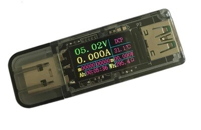 Multi Tester USB, 3.7V-30V 5A, Display color IPS