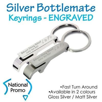 Deluxe Silver Bottlemate Keyring