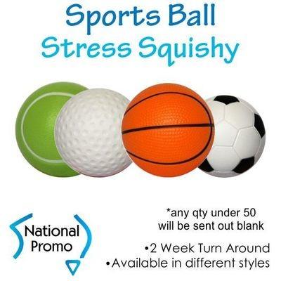Single Colour Print Sports Stress Balls