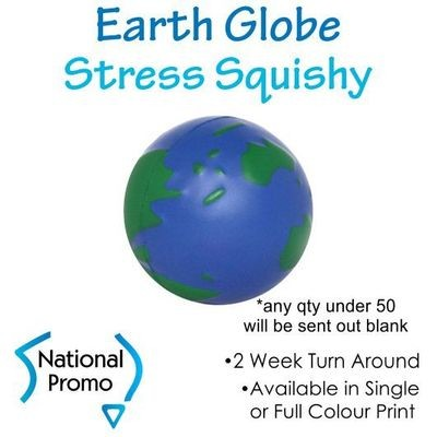 Full Colour Print Earth Globe Squishy