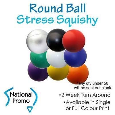 Full Colour Print Round Ball Stress Squishy
